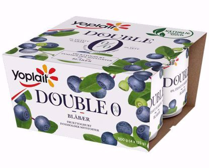 Picture of Yoplait Yoghurt Double 0% Blåbær 4x125 g